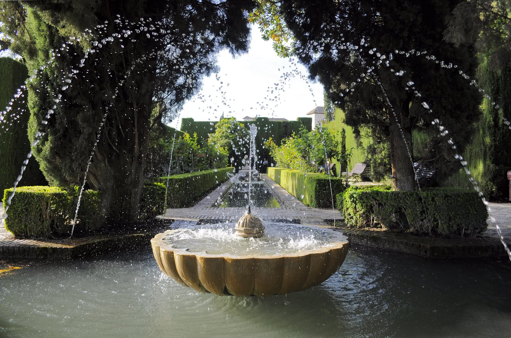 Palais du g n ralife l alhambra fond - Paginas amarillas de granada ...