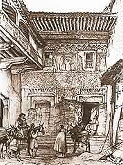 Patio del Cuarto Dorado según Lewis 1833